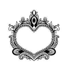 decorative heart style zentangle vector image