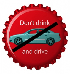 don't drink and drive vector image