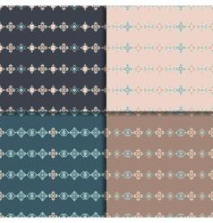 Ethnic seamless pattern set vector image