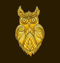 fantasy decorative owl steampunk vintage style vector image