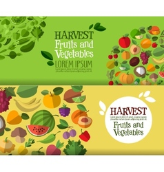 fruits and vegetables logo design template vector image