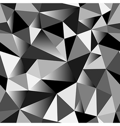 Geometric rumpled triangular seamless pattern vector