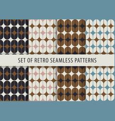 Geometric seamless pattern set abstract retro vector