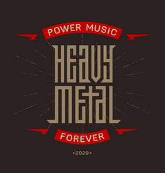 Heavy metal - brutal font for labels headlines or vector