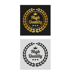 high quality laurel wreath in two versions vector image