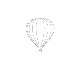 hot air balloon continuous line graphic ill vector image