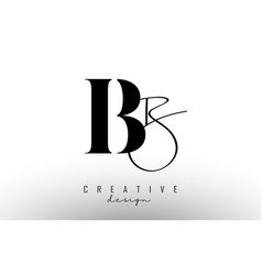 letters bb b logo with a minimalist design vector image