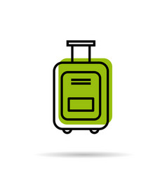 line icon - suitcase for a vacation trip vector image