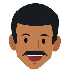 Man face smiling cartoon vector
