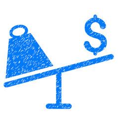 market price swing grunge icon vector image