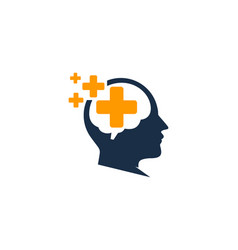 medical brain logo icon design vector image