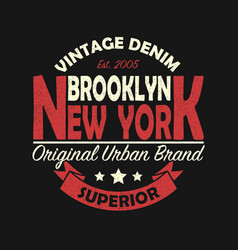 New york brooklyn vintage graphic for t-shirt vector