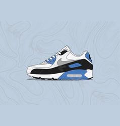 Nike air max 90 og blue vector