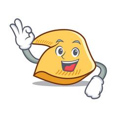 Okay fortune cookie character cartoon vector