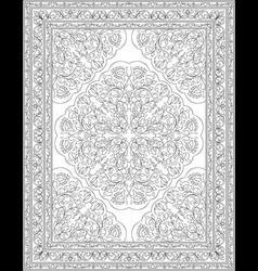 oriental floral carpet vector image