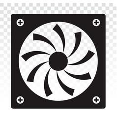 Pc fan computer fan flat icon for apps or website vector