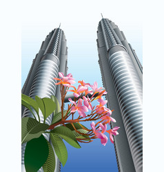 Petronas Twin Towers vector