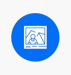 Picture image landmark photo white glyph icon vector