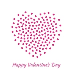 Pink Heart for Valentines Day card Background vector