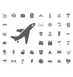 plane aircraft icon summer holidays and vector image