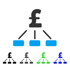 pound hierarchy flat icon vector image