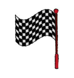 racing flag draw vector image