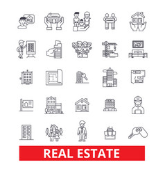 Real estate land lot house property vector