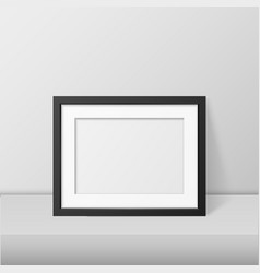 Realistic blank picture frame template set vector