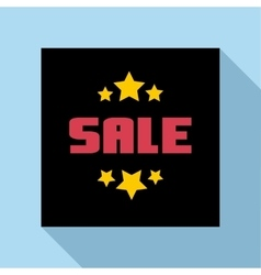 Sale emblem icon flat style vector image