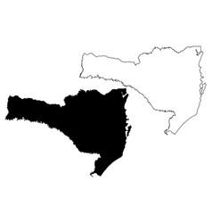 Santa catarina state map vector