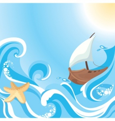 Sea background vector