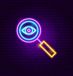 Search neon sign vector