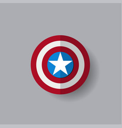 Shield with a star superhero shield vector