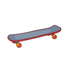 Skate board vintage sketch icon vector