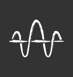 Soundwave chalk icon function and axis music vector