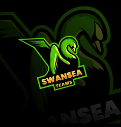 Swans mascot logo esport logo team stock images vector