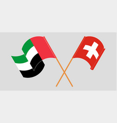 Switzerland and united arab emirates vector