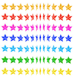 The collection of stars vector