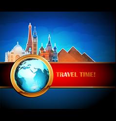 Travel advertising design vector