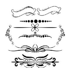 Vintage Decorations Elements Flourishes vector image vector image
