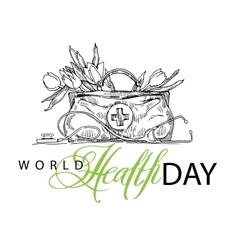 World health day card elements vector
