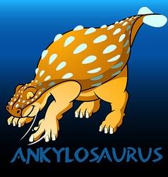 Ankylosaurus cute character dinosaurs vector image vector image