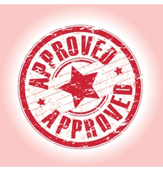 approved red vector image vector image