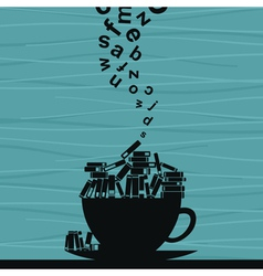 Book cup vector image vector image