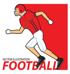 football player running vector image