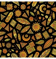 Tribal native ethnic seamless pattern vector image vector image