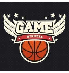 Basketball t-shirt graphic design vector image