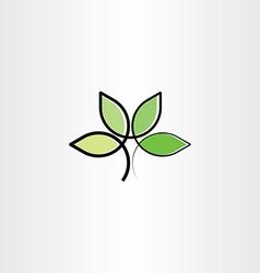 bio plant herb health eco logo icon vector image vector image
