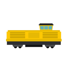 freight train icon flat style vector image