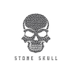 mosaic skull design template vector image vector image